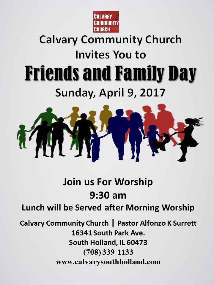 Friends And Family Day Calvary Community Church