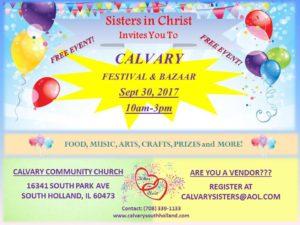[For Vendors] Festival & Bazaar @ Calvary Community Church | South Holland | Illinois | United States