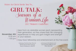 Sisters In Christ 2017 Women's Conference Flyer