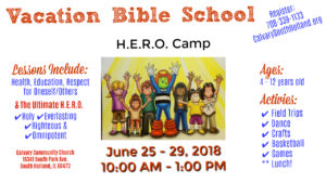 Vacation Bible School @ Calvary Community Church | South Holland | Illinois | United States