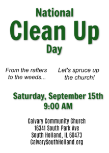 National Clean Up Day @ Church Campus | South Holland | Illinois | United States