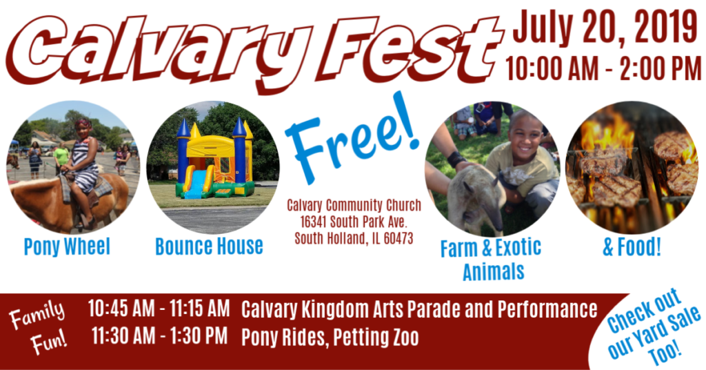 Annual Calvary Fest flyer for Calvary Community Church