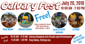 Calvary Fest @ Calvary Community Church