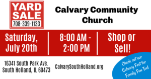 Yard Sale @ Calvary Community Church